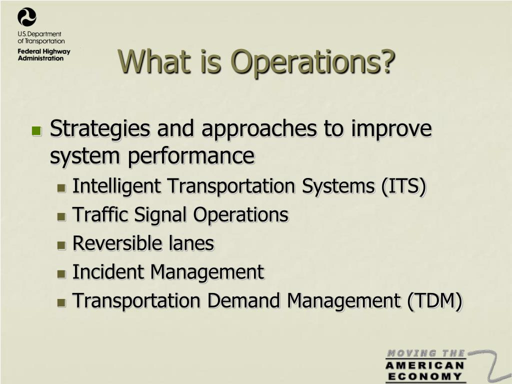 What is Operations?