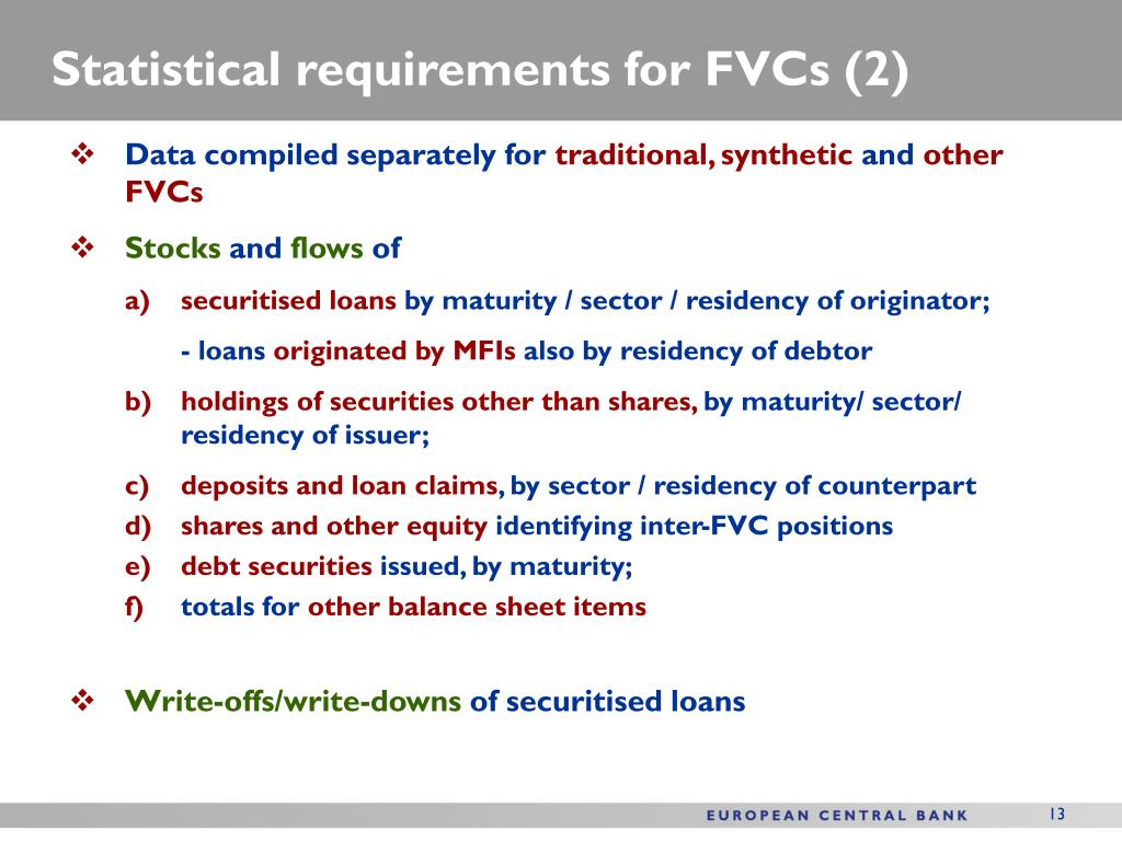 Statistical requirements for FVCs (2)
