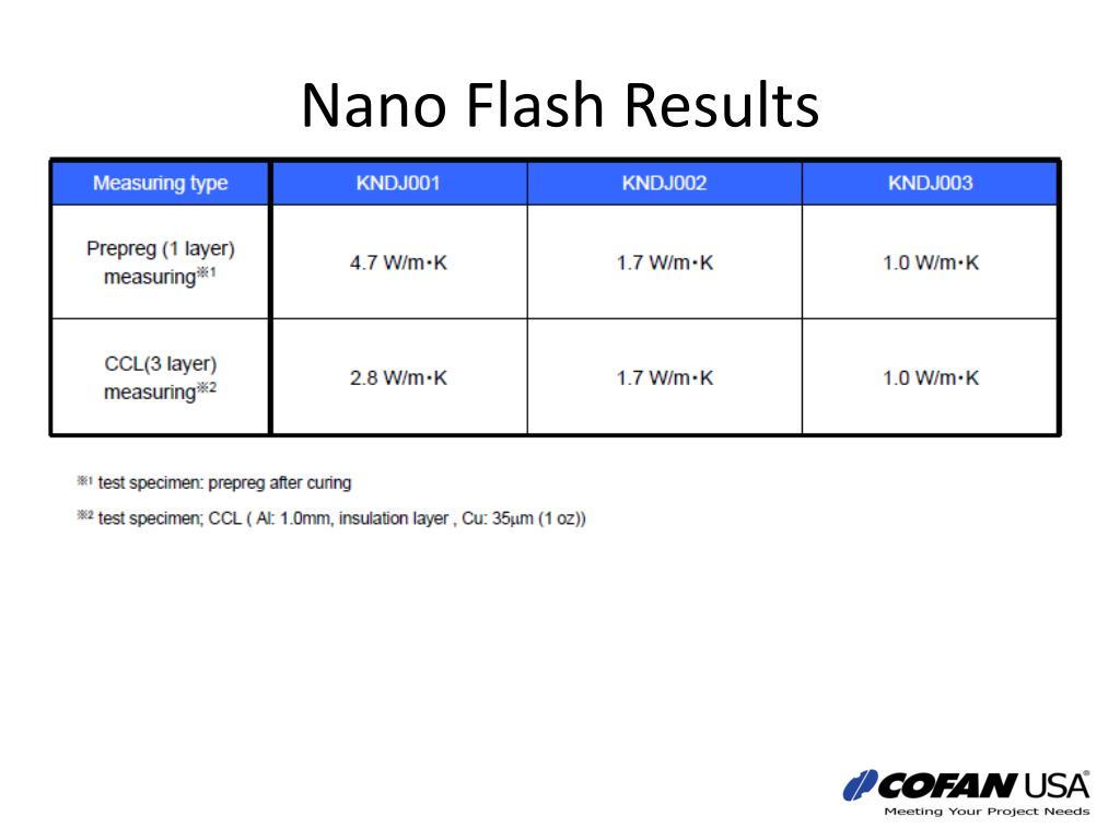 Nano Flash Results