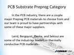 pcb substrate prepreg category3
