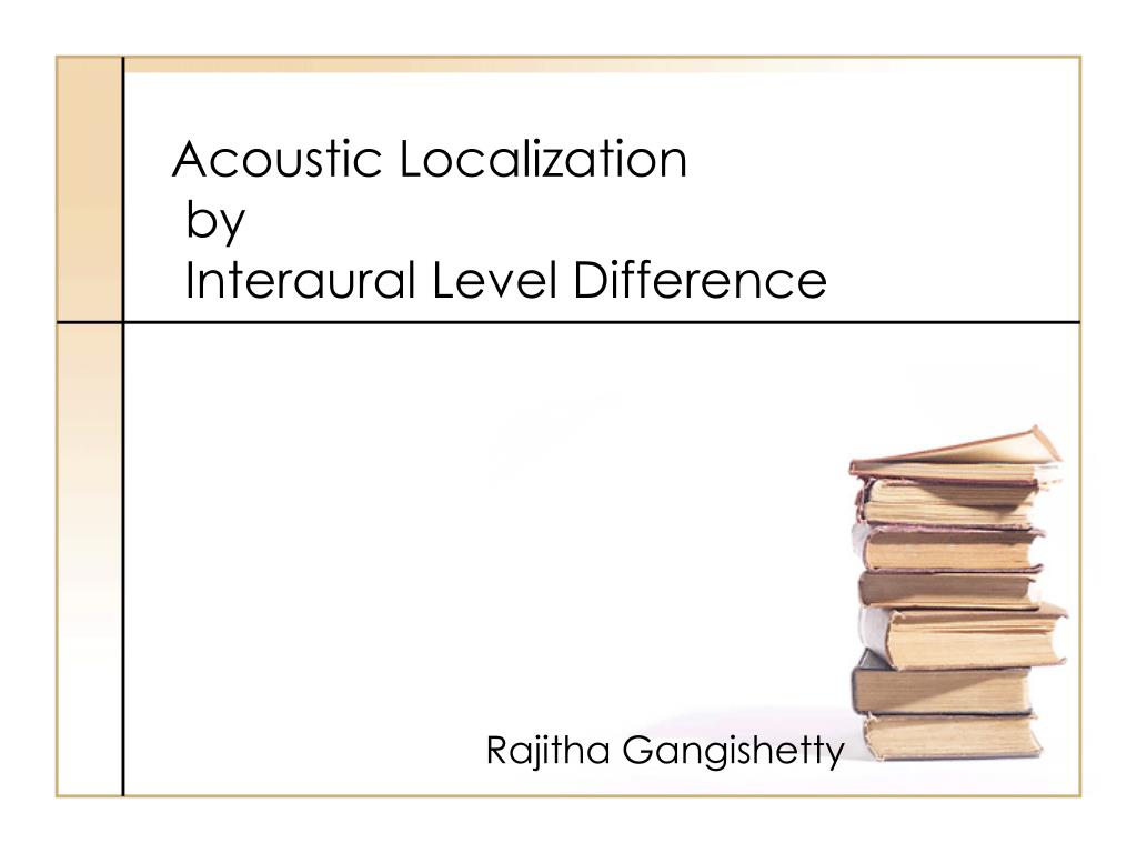 Acoustic Localization