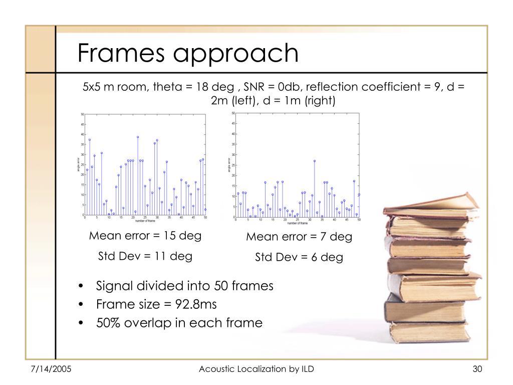 Frames approach