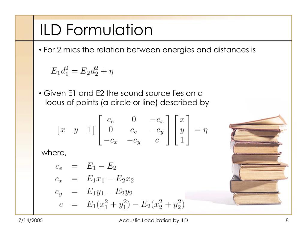 For 2 mics the relation between energies and distances is