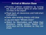 arrival at mission base21