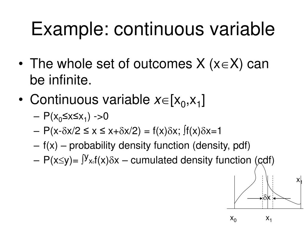 Example: continuous variable