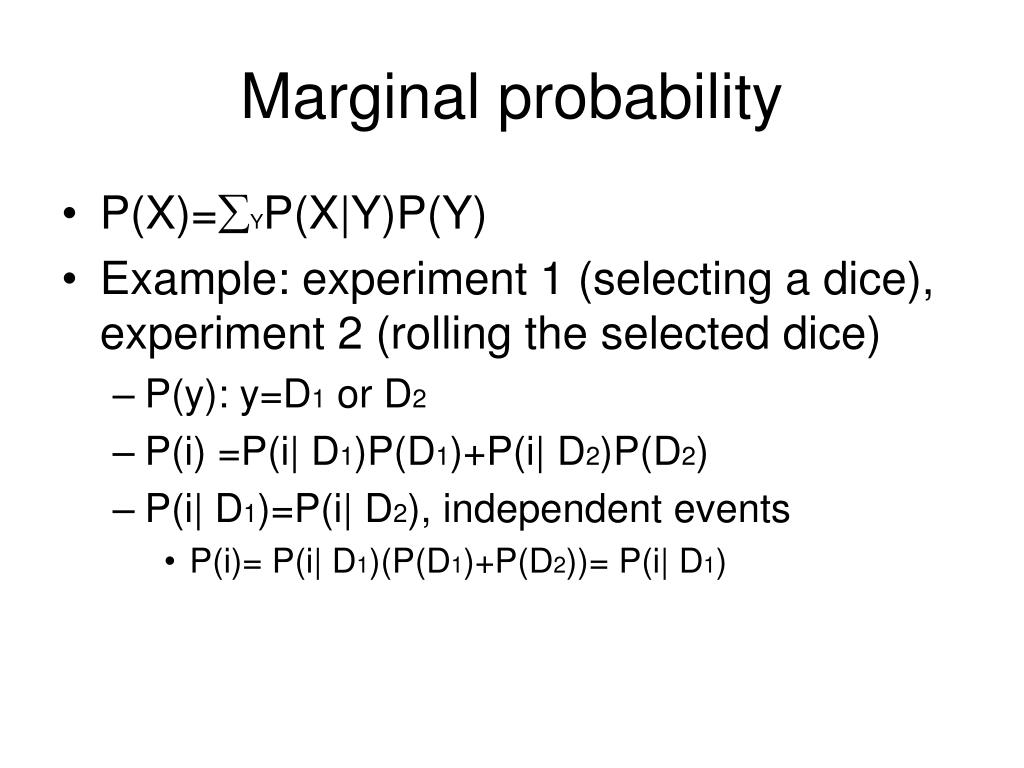 Marginal probability