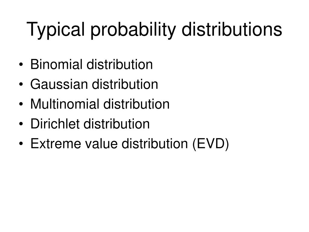 Typical probability distributions