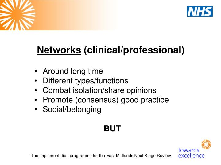 Networks clinical professional