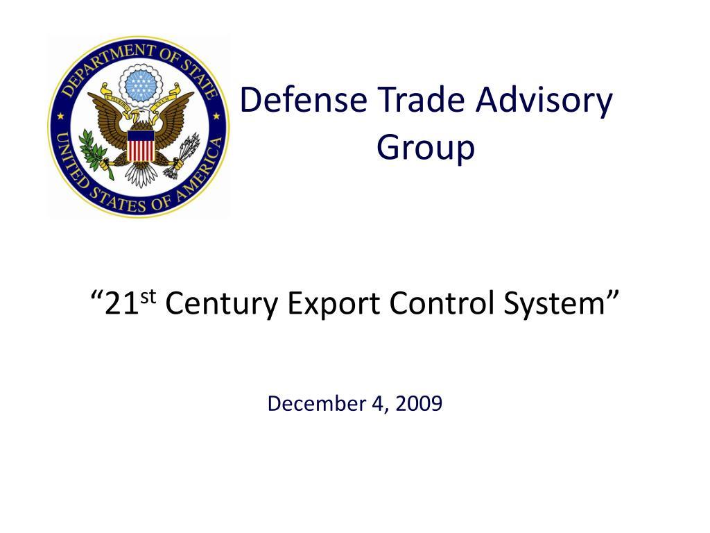 Defense Trade Advisory Group