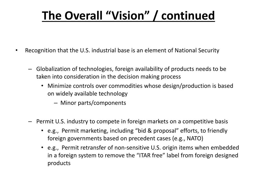 """The Overall """"Vision"""" / continued"""