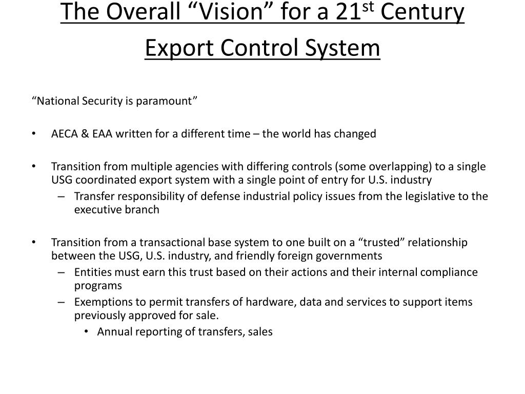 """The Overall """"Vision"""" for a 21"""