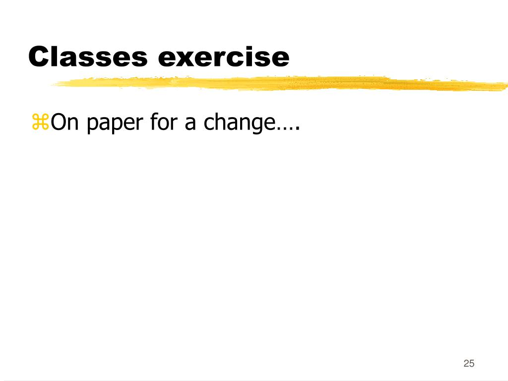 Classes exercise