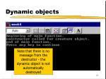 dynamic objects61