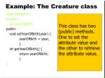 example the creature class11