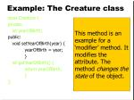 example the creature class13