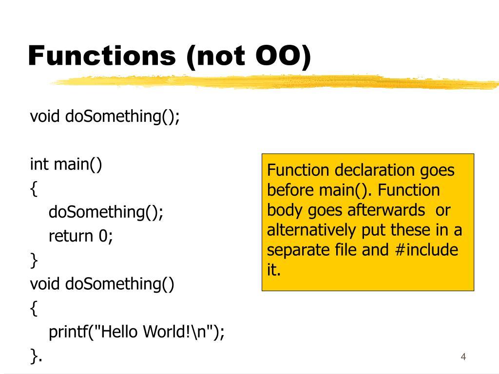 Functions (not OO)