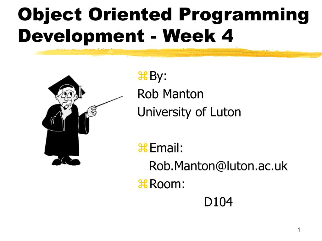 object oriented programming development week 4