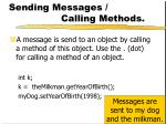 sending messages calling methods