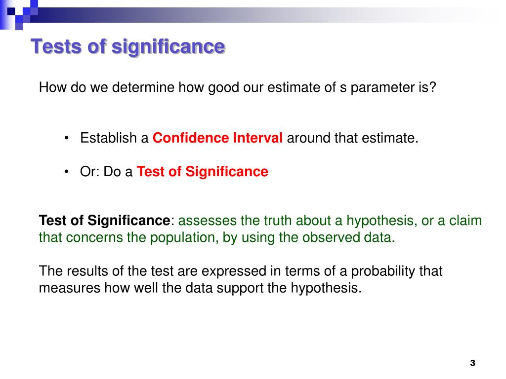 Tests of significance