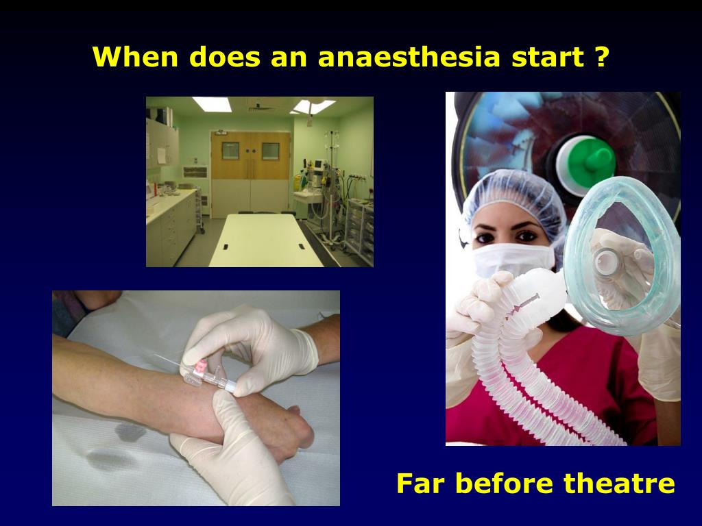 When does an anaesthesia start ?
