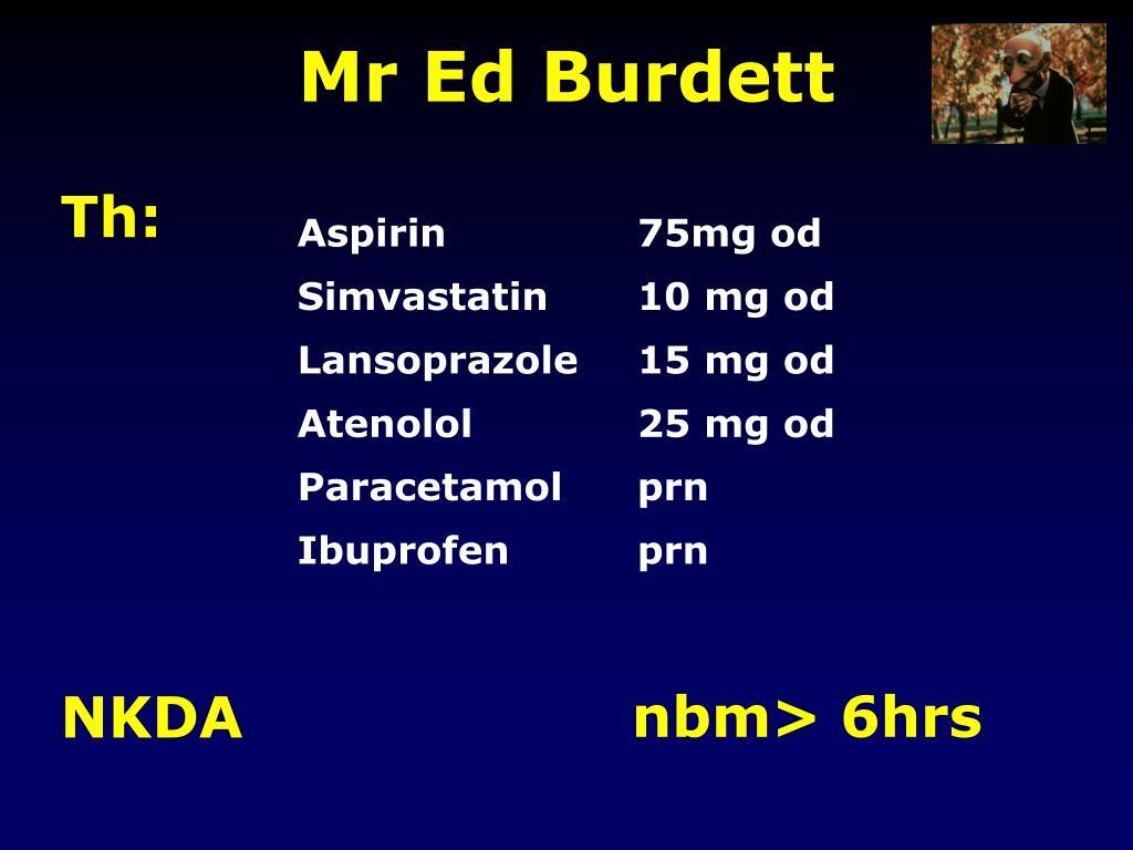 Mr Ed Burdett