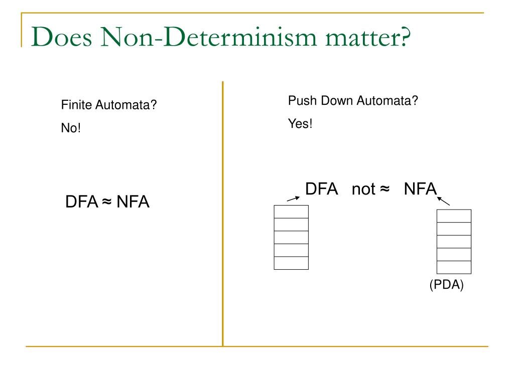 Does Non-Determinism matter?