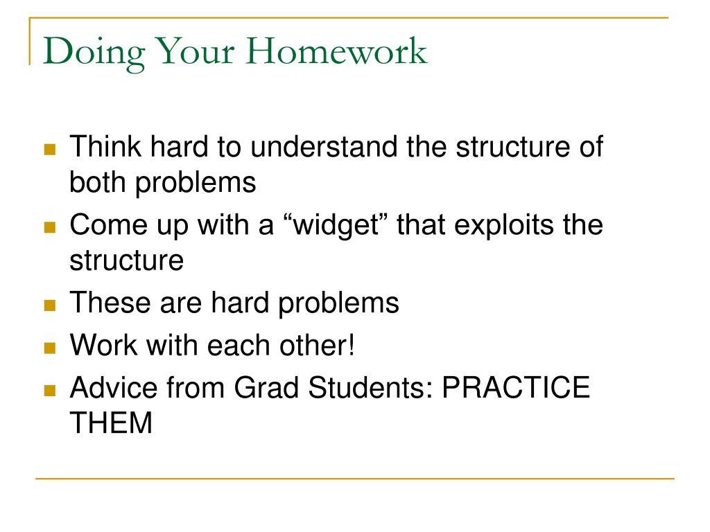 Doing Your Homework