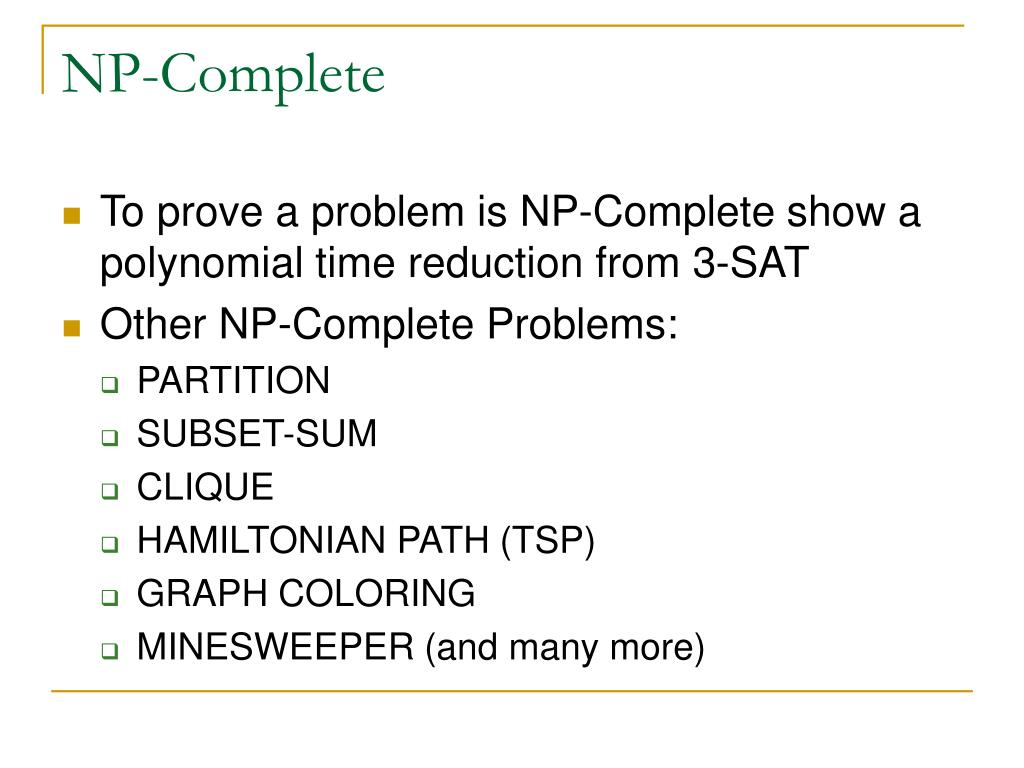 NP-Complete
