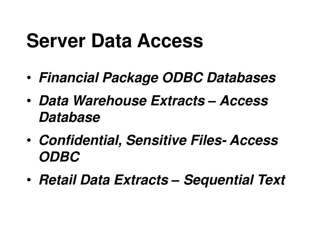 Server Data Access