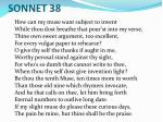 sonnet 38