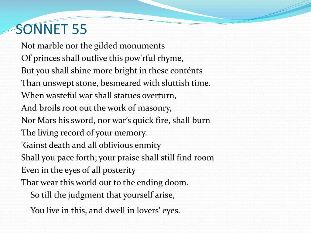 SONNET 55