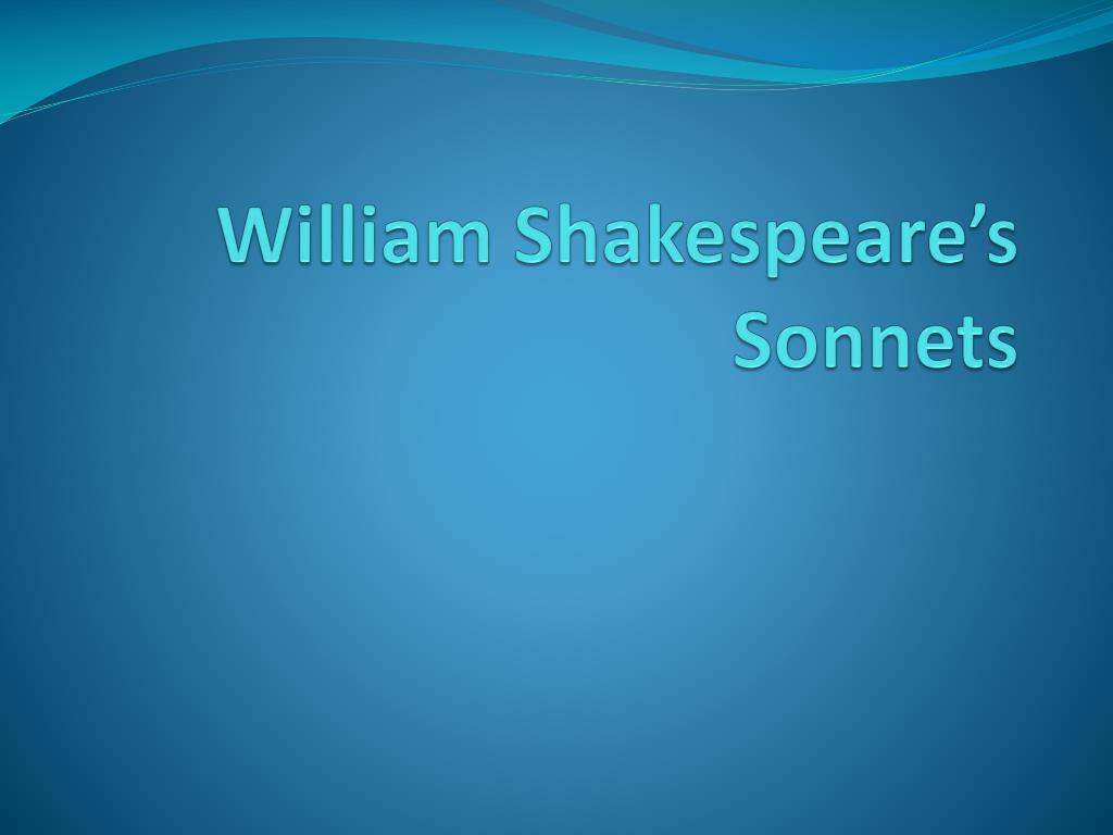 william shakespeare s sonnets