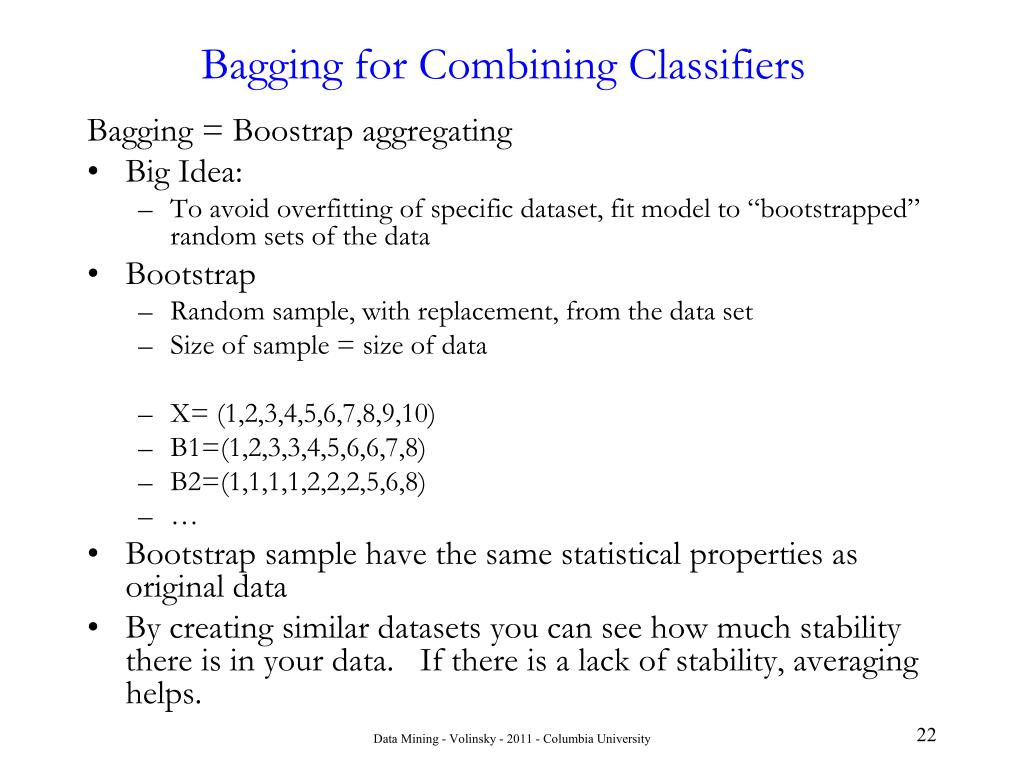 Bagging for Combining Classifiers
