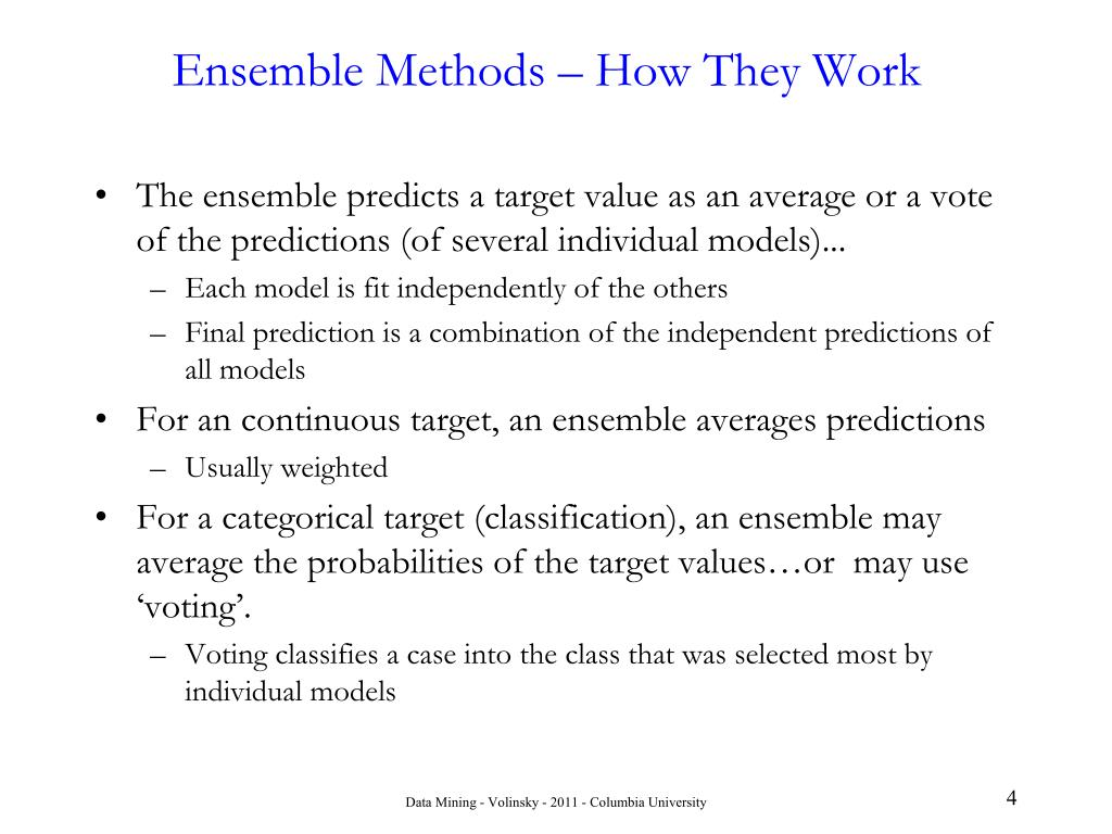 Ensemble Methods – How They Work