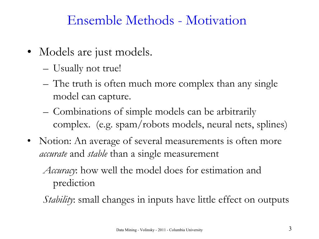 Ensemble Methods - Motivation