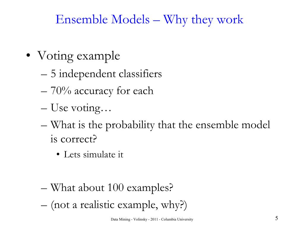 Ensemble Models – Why they work