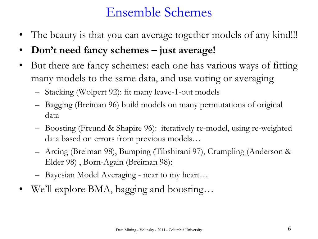 Ensemble Schemes