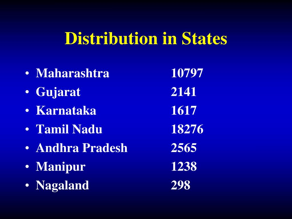 Distribution in States