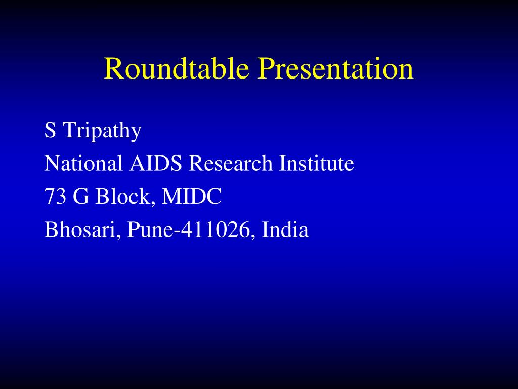 Roundtable Presentation