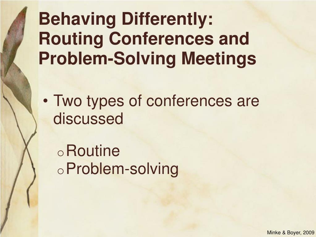 Behaving Differently: