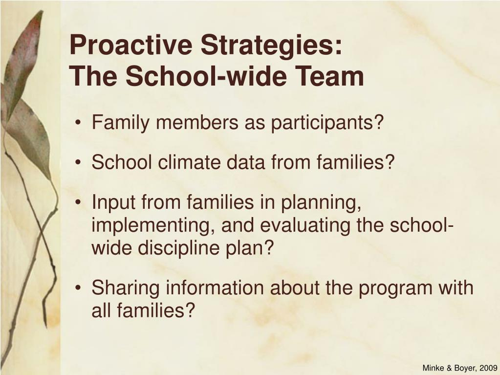 Proactive Strategies:
