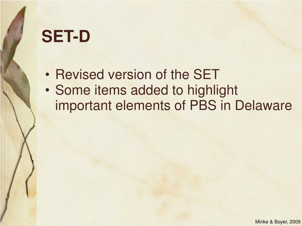 SET-D