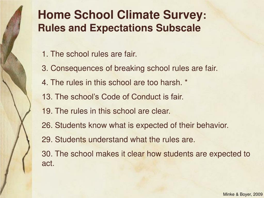 Home School Climate Survey