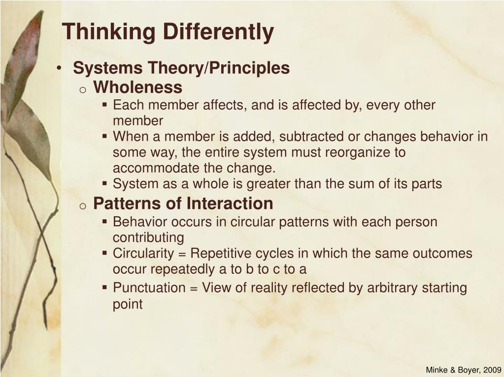 Systems Theory/Principles
