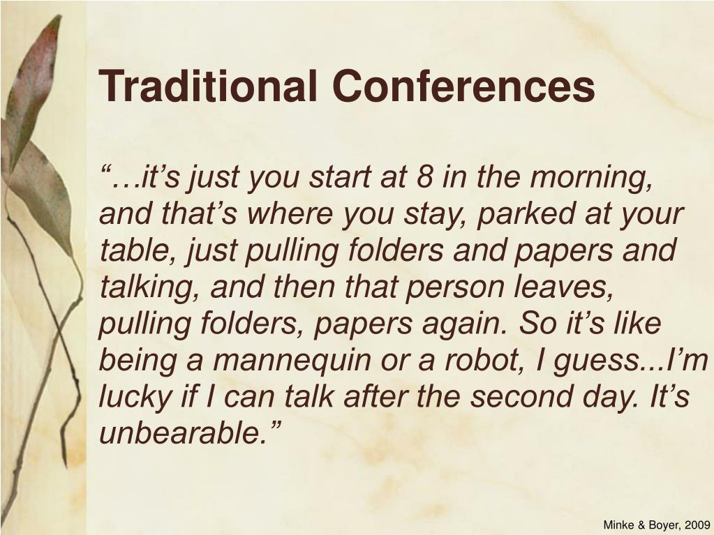 Traditional Conferences