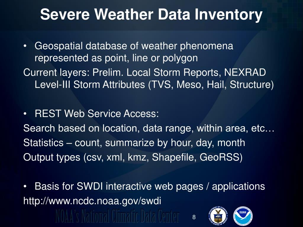Severe Weather Data Inventory