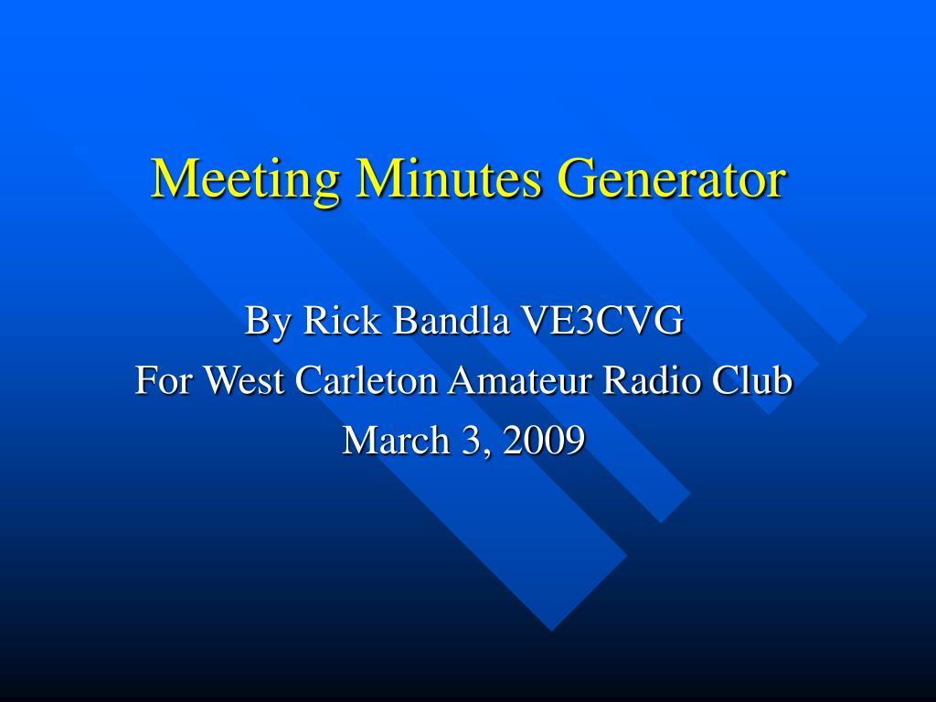 Meeting Minutes Generator
