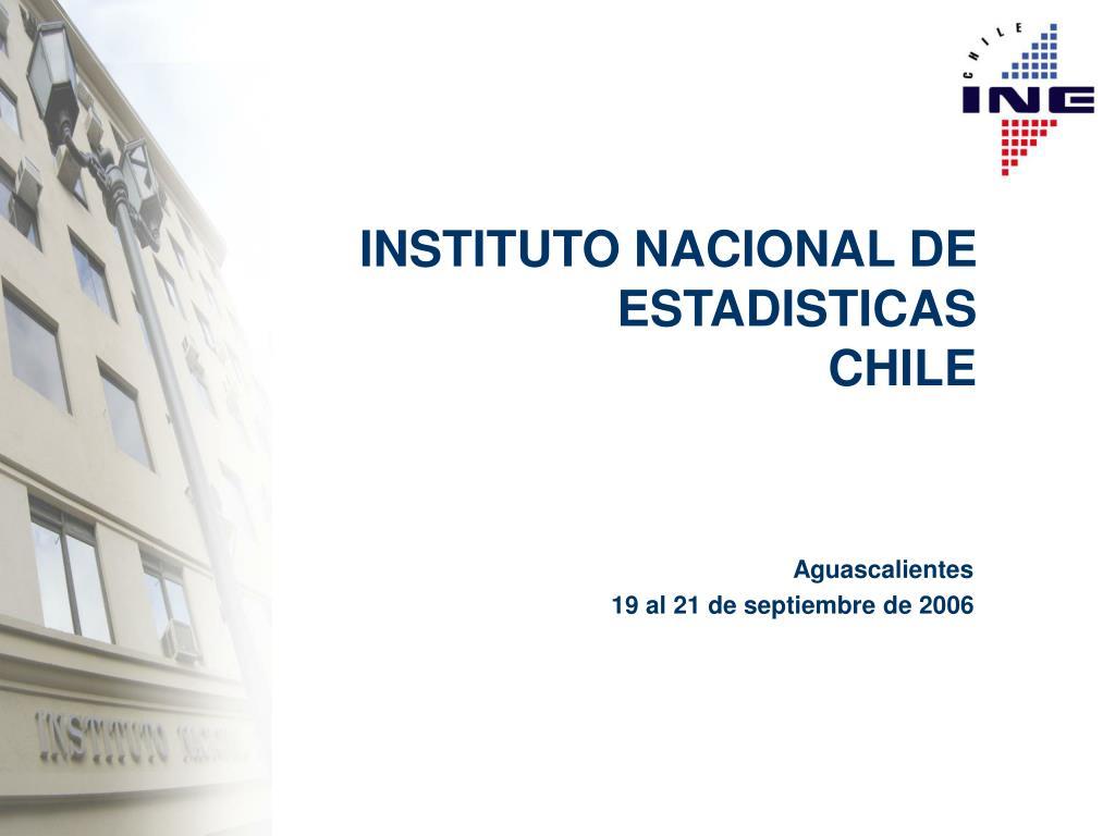 instituto nacional de estadisticas chile