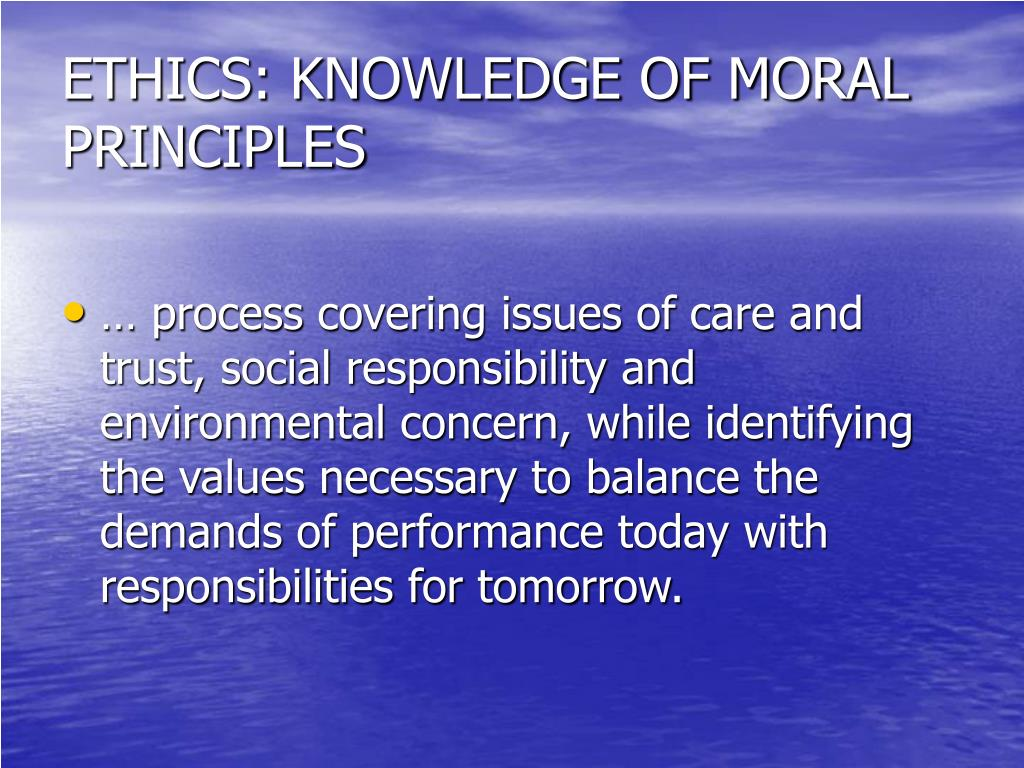 the role of ethics in tomorrows A dynamic followership  willingness to move beyond comfort zones is fully expected of tomorrow  it also includes knowledge of the ethics of our .