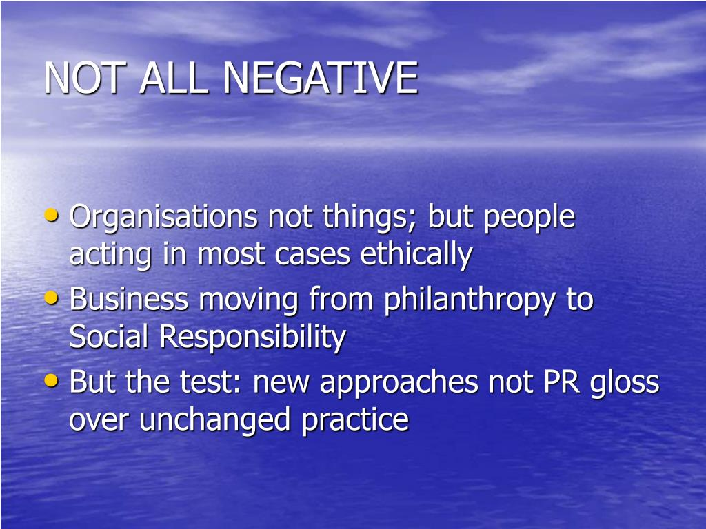 NOT ALL NEGATIVE